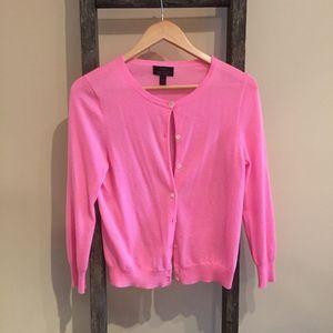 Pink J. Crew Italian Cashmere Cardigan Sweater - M